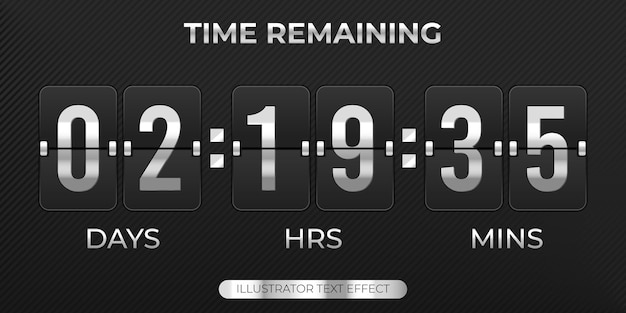 Coutdown timer flip board with scoreboard of days hours minutes time remaining sale template