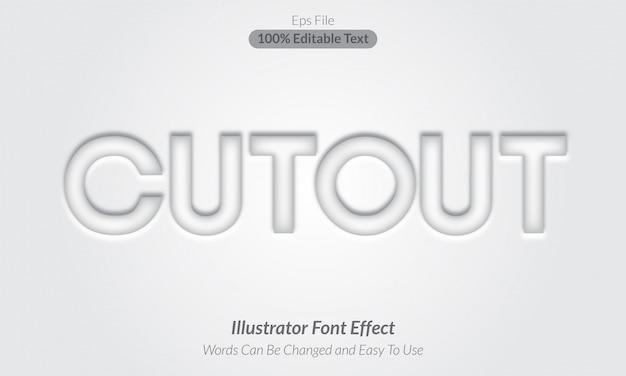 Coutout-編集可能なテキスト効果