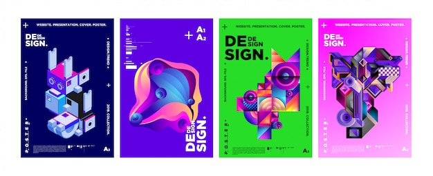 雑誌の表紙とポスターのデザインテンプレート