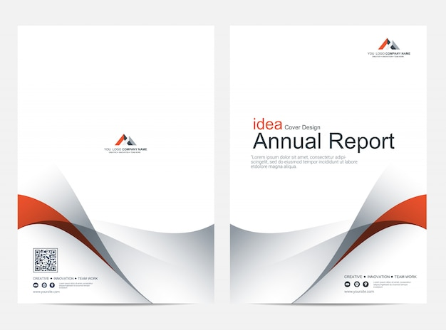 Cover annual report layout design template