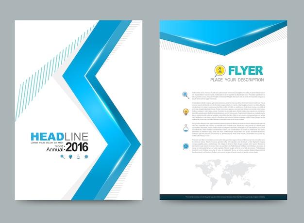年次報告表リーフレットパンフレットフライヤーテンプレートa4サイズ