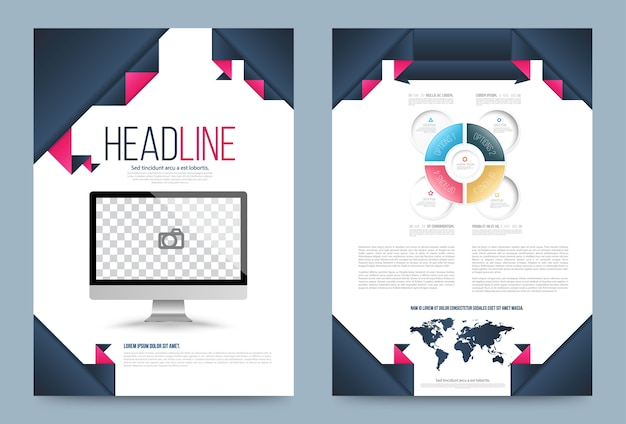 Cover annual report leaflet brochure flyer template a4 size