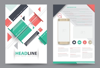 Cover annual report Leaflet Brochure Flyer template A4