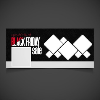Cover for black friday decorated with squares
