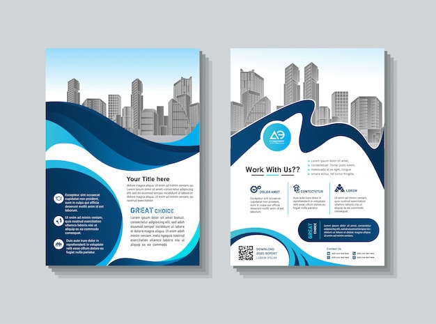Cover book brochure layout flyer poster annual report