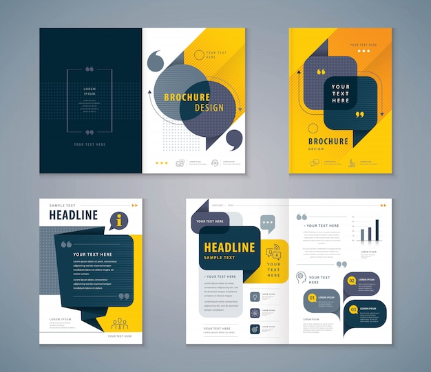 Cover book design set