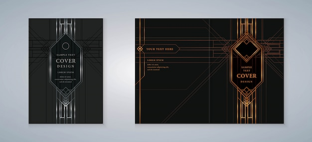 Cover book gatsby design set