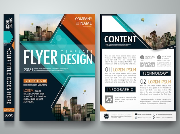 Cover book portfolio brochure template .