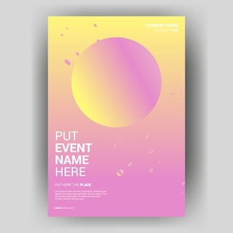 Cover book poster with creative colorful circle