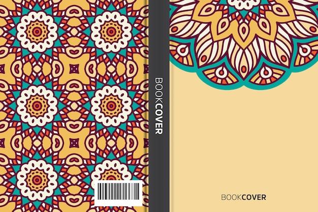 Обложка книги с дизайном элемента мандалы