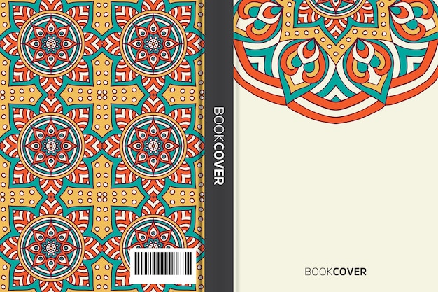 만다라 요소 디자인으로 책 표지