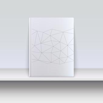 선반에 테크노 패턴으로 책을 커버.