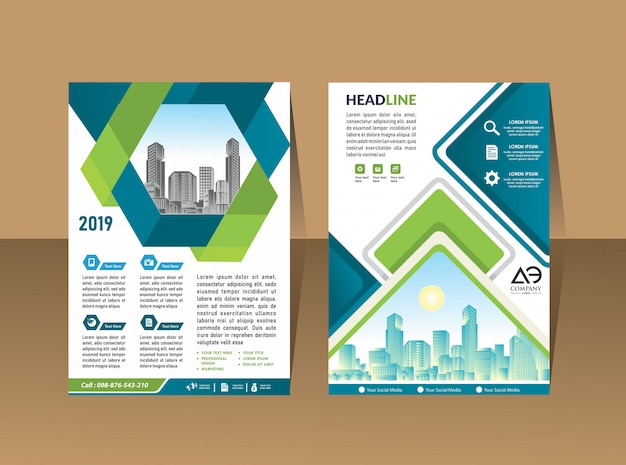 Cover brochure flyer layout annual report business template
