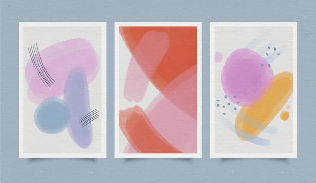 Обложка коллекции абстрактных акварельных форм