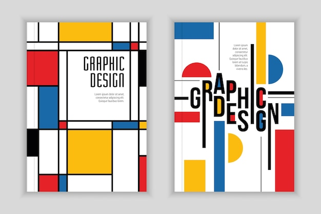Cover collection in bauhaus style
