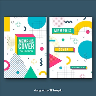 Cover collection in memphis style
