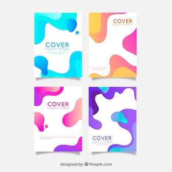 Cover collection of four with wavy shapes