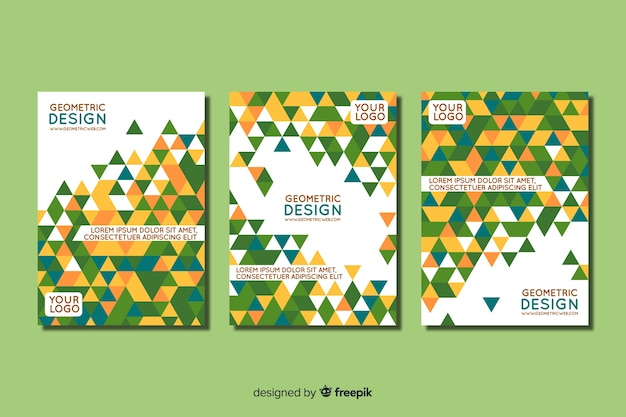 Cover collection with geometric design