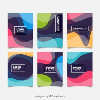Cover collection with wavy shapes