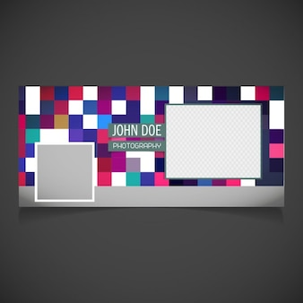 Cover decorated with pixels