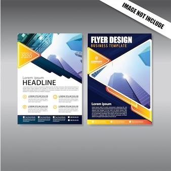 カバーデザインチラシやパンフレットのビジネステンプレート