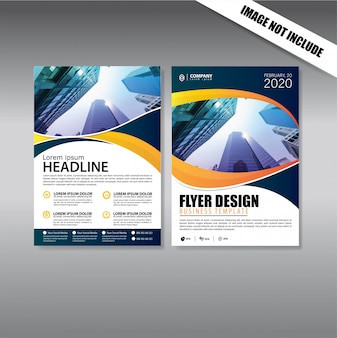 Cover design flyer and brochure business template