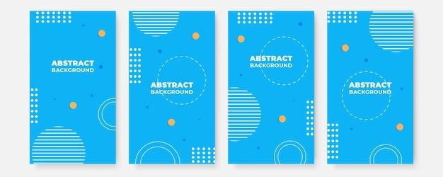 ビジネスと建設のためのカバーデザインレイアウトセット。色付きの企業イラストと抽象的な幾何学。