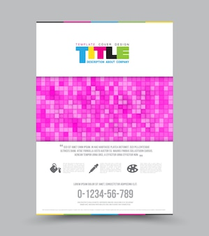 Cover design layout template in A4 size