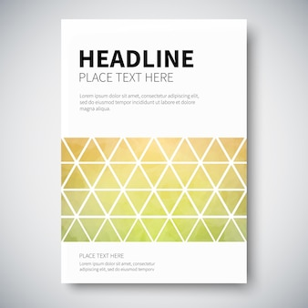 Cover design with abstract colorful triangulated lined geometry