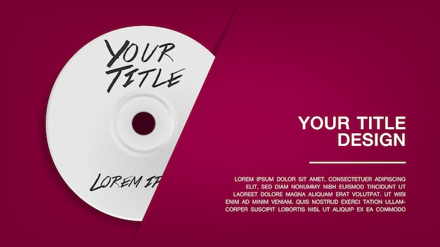 Cover disc design template