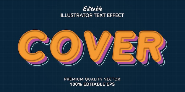 Cover editable text style effect