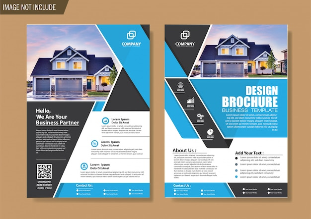 Cover flyer and brochure business template for design annual report