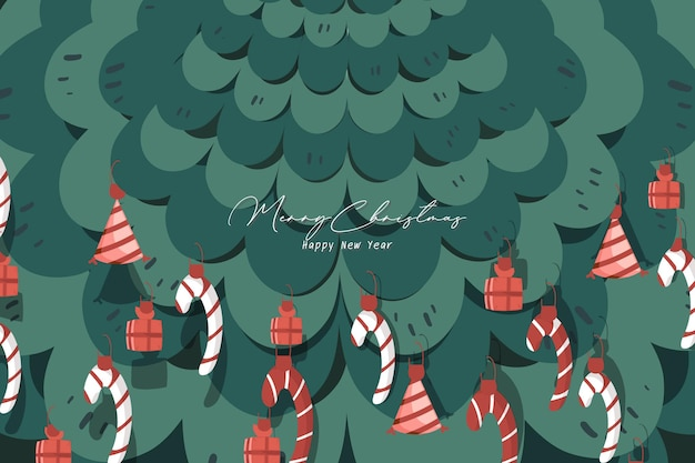 Cover image for christmas and new year celebrations illustrations christmas tree illustrations.