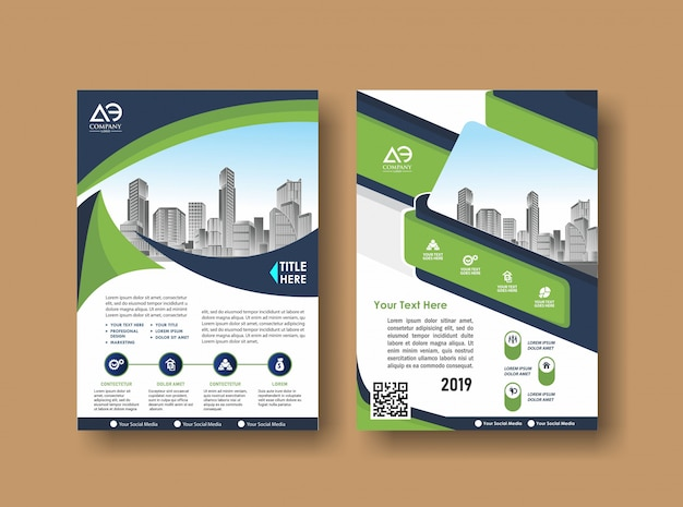 Cover layout brochure flyer for event and report