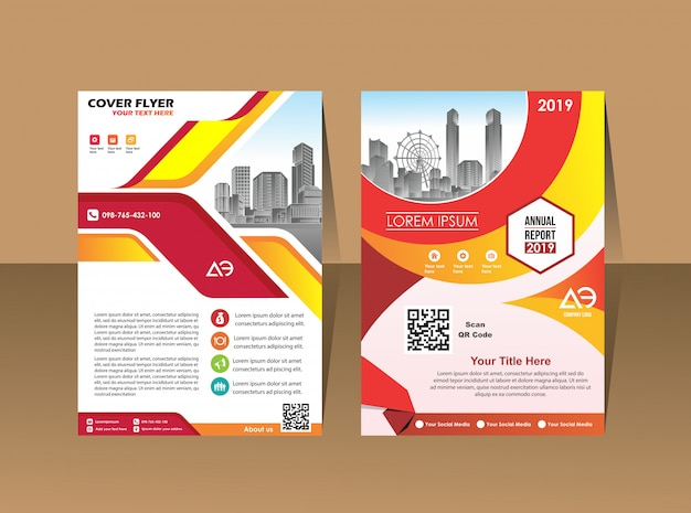 Cover layout brochure magazine catalog for annual report