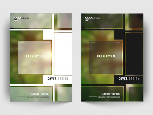 Cover layout with creative design pattern