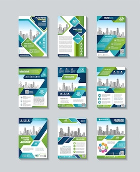 Cover magazine, flyer or booklet in a4