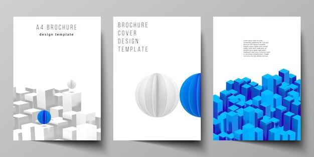 Cover mockups templates for brochure flyer