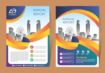 Cover of a modern business brochure layout or flyer template