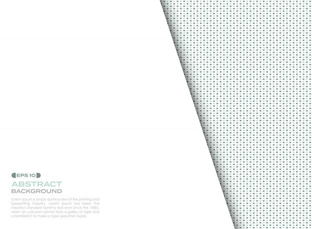 복사 공간 디지털 파란색과 녹색 사각형 요소 패턴 배경 표지.