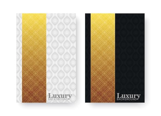 ゴールドカラーのエレガントなパターンモチーフのカバー