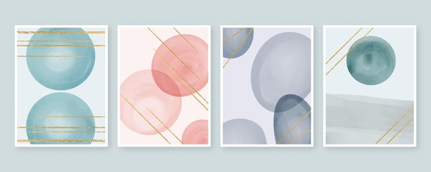 Cover pack watercolor shapes
