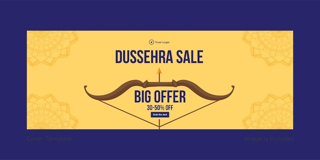 Cover page of dussehra sale big offer template