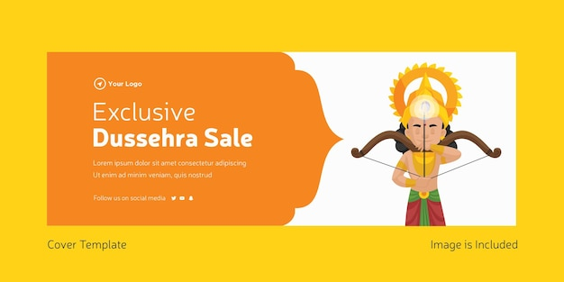 Cover page of indian festival dussehra sale template