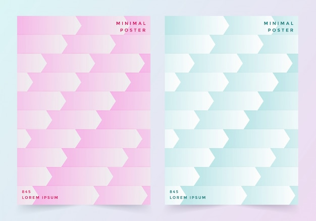 Cover page in pastel pink and blue color