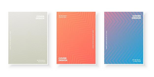 세 가지 색상으로 설정된 표지 템플릿