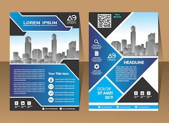 Cover Poster brochure flyer design template vector