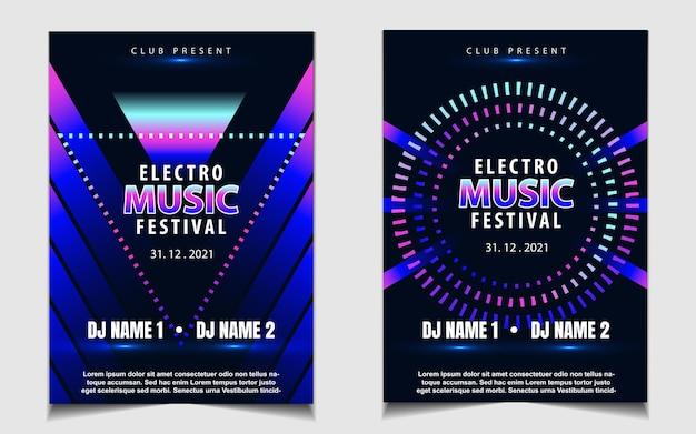 Шаблон обложки для фестиваля электронной музыки