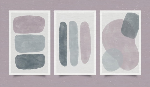 Обложка набор абстрактных акварельных форм