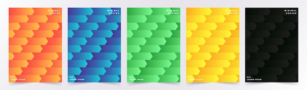 Cover set with abstract geometric pattern with cubes